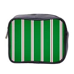 Green Line Mini Toiletries Bag 2 Side by AnjaniArt