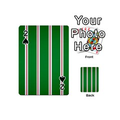 Green Line Playing Cards 54 (mini)  by AnjaniArt
