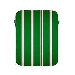 Green Line Apple Ipad 2/3/4 Protective Soft Cases by AnjaniArt
