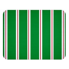 Green Line Double Sided Flano Blanket (large)  by AnjaniArt
