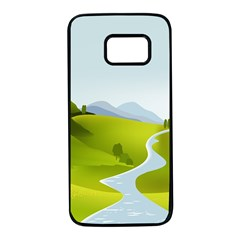 Scenery Samsung Galaxy S7 Black Seamless Case