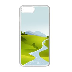 Scenery Apple iPhone 7 Plus White Seamless Case by AnjaniArt