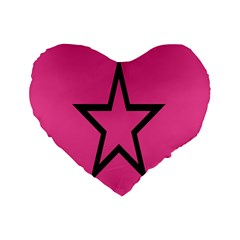 Star Standard 16  Premium Heart Shape Cushions by AnjaniArt
