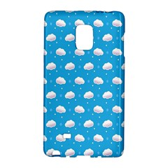 Seamless Fluffy Cloudy And Sky Galaxy Note Edge by AnjaniArt