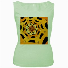 Spider Helloween Yellow Women s Green Tank Top by AnjaniArt
