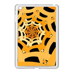 Spider Helloween Yellow Apple Ipad Mini Case (white) by AnjaniArt