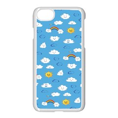 White Clouds Apple Iphone 7 Seamless Case (white)