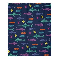 Twiddy Tropical Fish Pattern Shower Curtain 60  X 72  (medium)  by AnjaniArt