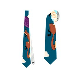 Foxfabricsmall Weasel Neckties (two Side)  by AnjaniArt