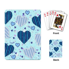 Light And Dark Blue Hearts Playing Card by LovelyDesigns4U