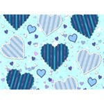 Light and Dark Blue Hearts Apple 3D Greeting Card (7x5) Front