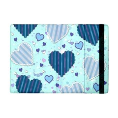 Light And Dark Blue Hearts Ipad Mini 2 Flip Cases by LovelyDesigns4U