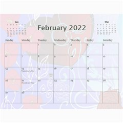 Pretty Pastels Calendar 2019 By Kim Blair   Wall Calendar 11  X 8 5  (12 Months)   B2jywaxkqk88   Www Artscow Com Feb 2019