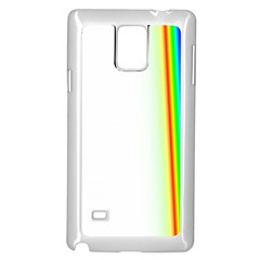 Rainbow Side Background Samsung Galaxy Note 4 Case (White) by Zeze