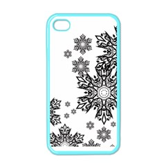 Beautiful Black And White Snowflakes  Apple Iphone 4 Case (color) by Brittlevirginclothing