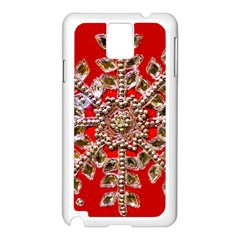 Snowflake Jeweled Samsung Galaxy Note 3 N9005 Case (White) by Zeze