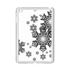 Beautiful Black Ans White Snowflakes Ipad Mini 2 Enamel Coated Cases by Brittlevirginclothing