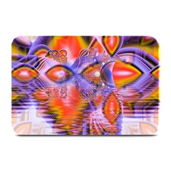 Crystal Star Dance, Abstract Purple Orange Plate Mats by DianeClancy