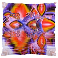 Crystal Star Dance, Abstract Purple Orange Standard Flano Cushion Case (one Side) by DianeClancy