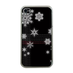 Shining Snowflakes Apple Iphone 4 Case (clear) by Brittlevirginclothing