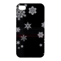Shining Snowflakes Apple Iphone 4/4s Premium Hardshell Case by Brittlevirginclothing