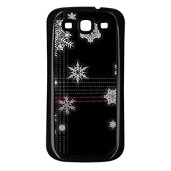 Shining Snowflakes Samsung Galaxy S3 Back Case (black) by Brittlevirginclothing