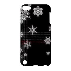 Shining Snowflakes Apple Ipod Touch 5 Hardshell Case by Brittlevirginclothing