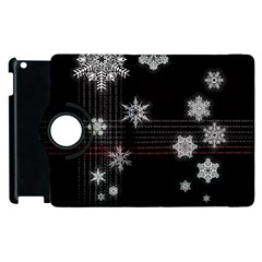 Shining Snowflakes Apple Ipad 2 Flip 360 Case by Brittlevirginclothing
