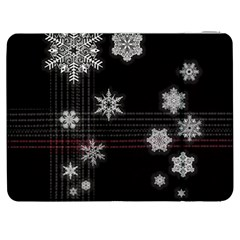 Shining Snowflakes Samsung Galaxy Tab 7  P1000 Flip Case by Brittlevirginclothing