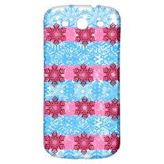 Pink Snowflakes Pattern Samsung Galaxy S3 S Iii Classic Hardshell Back Case by Brittlevirginclothing
