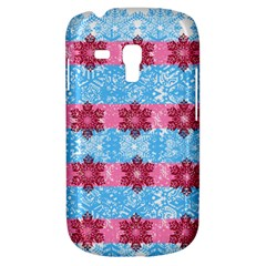 Pink Snowflakes Pattern Galaxy S3 Mini by Brittlevirginclothing
