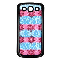 Pink Snowflakes Pattern Samsung Galaxy S3 Back Case (black) by Brittlevirginclothing