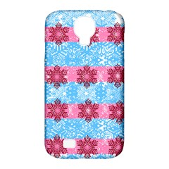 Pink Snowflakes Pattern Samsung Galaxy S4 Classic Hardshell Case (pc+silicone) by Brittlevirginclothing