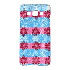 Pink Snowflakes Pattern Samsung Galaxy A5 Hardshell Case  by Brittlevirginclothing