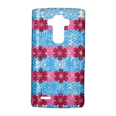 Pink Snowflakes Pattern Lg G4 Hardshell Case by Brittlevirginclothing