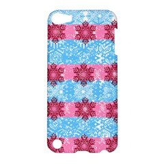 Pink Snowflakes Pattern Apple Ipod Touch 5 Hardshell Case by Brittlevirginclothing