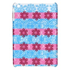 Pink Snowflakes Pattern Apple Ipad Mini Hardshell Case by Brittlevirginclothing