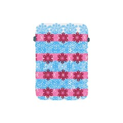 Pink Snowflakes Pattern Apple Ipad Mini Protective Soft Cases by Brittlevirginclothing