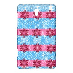 Pink Snowflakes Pattern Samsung Galaxy Tab S (8 4 ) Hardshell Case  by Brittlevirginclothing