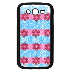 Pink Snowflakes Pattern Samsung Galaxy Grand Duos I9082 Case (black) by Brittlevirginclothing