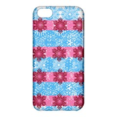 Pink Snowflakes Pattern Apple Iphone 5c Hardshell Case by Brittlevirginclothing