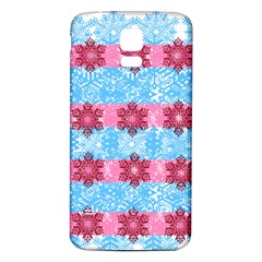 Pink Snowflakes Pattern Samsung Galaxy S5 Back Case (white) by Brittlevirginclothing