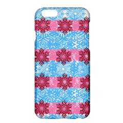 Pink Snowflakes Pattern Apple Iphone 6 Plus/6s Plus Hardshell Case by Brittlevirginclothing