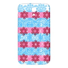 Pink Snowflakes Pattern Samsung Galaxy Mega I9200 Hardshell Back Case by Brittlevirginclothing