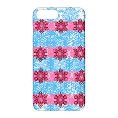 Pink Snowflakes Pattern Apple Iphone 7 Plus Hardshell Case by Brittlevirginclothing