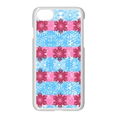 Pink Snowflakes Pattern Apple Iphone 7 Seamless Case (white) by Brittlevirginclothing