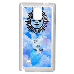 Let Your Sun Shine  Samsung Galaxy Note 4 Case (White)