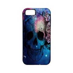 Colorful Space Skull Pattern Apple Iphone 5 Classic Hardshell Case (pc+silicone) by Brittlevirginclothing