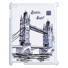 Lovely London Baby  Apple Ipad 2 Case (white) by Brittlevirginclothing