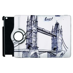 Lovely London Baby  Apple Ipad 3/4 Flip 360 Case by Brittlevirginclothing